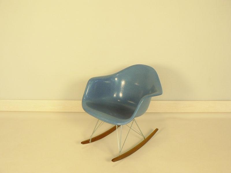 Fauteuil eames bleu for Eames fauteuil rar