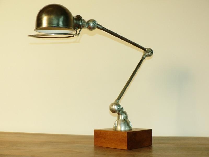 lampe jielde 2 bras patienn acier deco loft. Black Bedroom Furniture Sets. Home Design Ideas