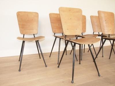 suite de 6 chaises style hitier. Black Bedroom Furniture Sets. Home Design Ideas