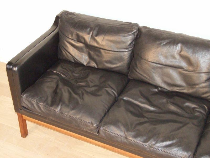 canap cuir scandinave ekstrom. Black Bedroom Furniture Sets. Home Design Ideas