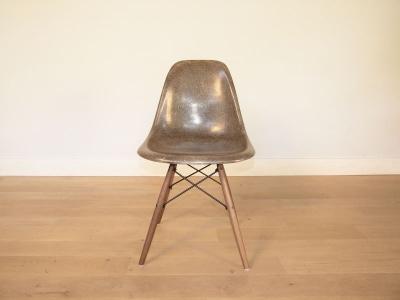 Chaise Charles Et Ray Eames Fibre De Verre Original Verte