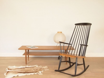rocking chair scandinave vintage
