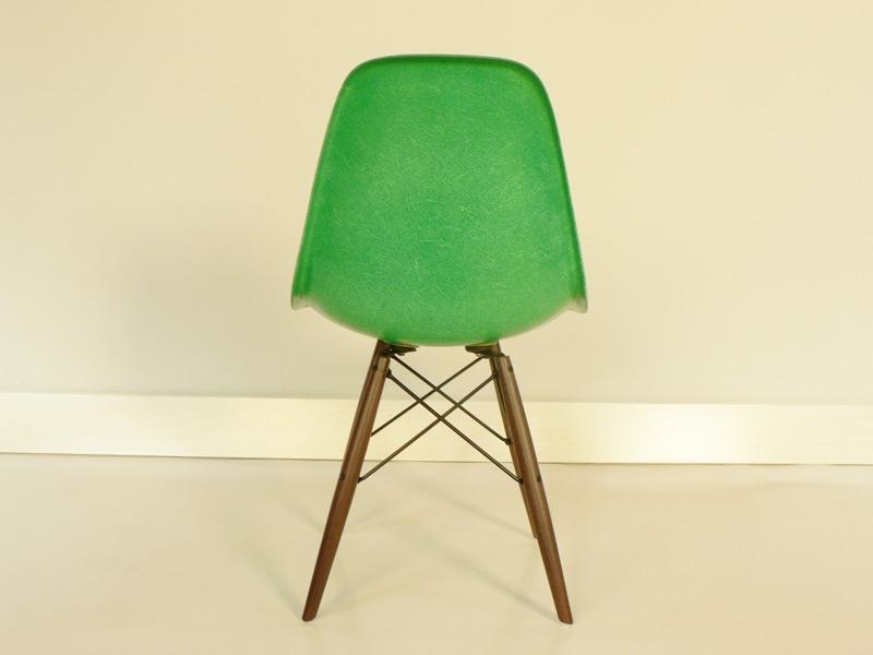 chaise charles et ray eames fibre de verre original verte - Chaise Eames Fibre De Verre