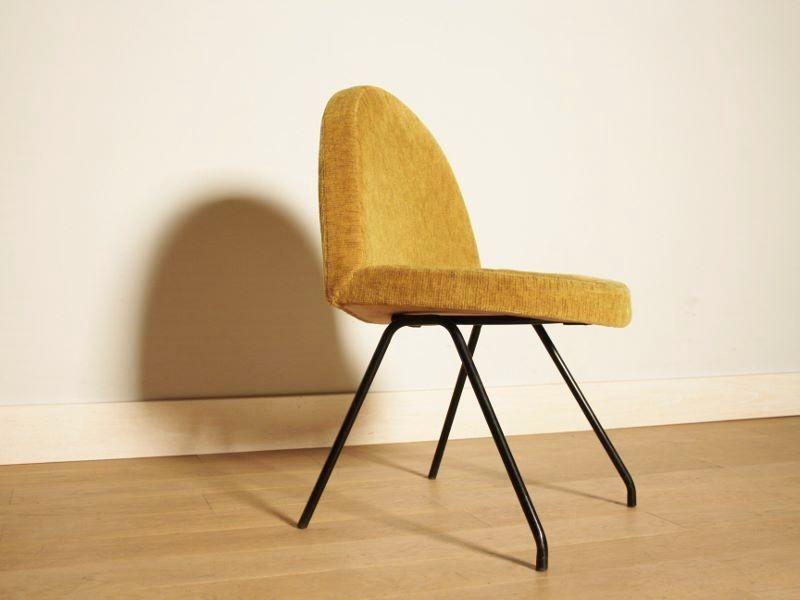 chaise langue andr motte vintage moutarde fauteuil. Black Bedroom Furniture Sets. Home Design Ideas