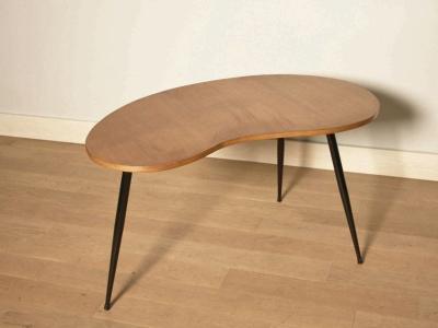 Table bureau console appoint vintage ann e 50 for Bureau haricot