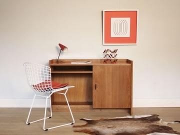 Bureau vintage rouge
