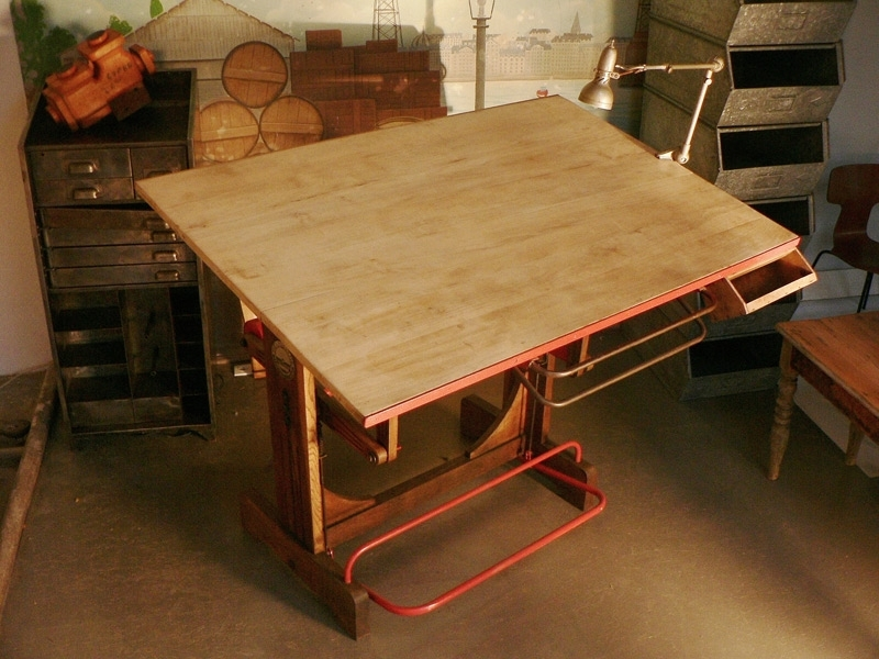 Table architecte ancienne - Table a dessin architecte ...