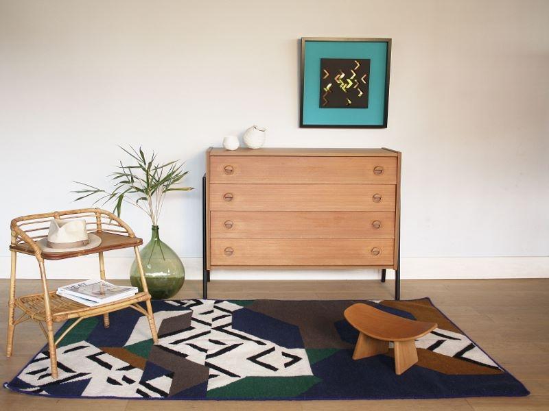 chevet table basse vintage rotin. Black Bedroom Furniture Sets. Home Design Ideas