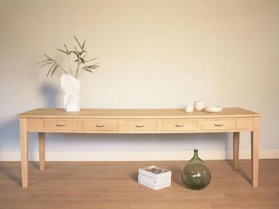 table ferme refectoire vintage grande. Black Bedroom Furniture Sets. Home Design Ideas