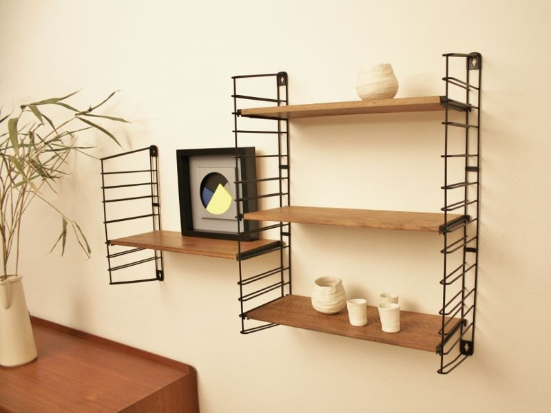etagere string tomado vintage scandinave. Black Bedroom Furniture Sets. Home Design Ideas