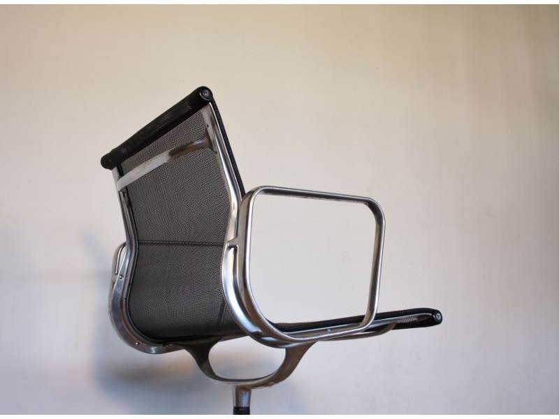eames vintage fauteuil bureau aluminium chair. Black Bedroom Furniture Sets. Home Design Ideas