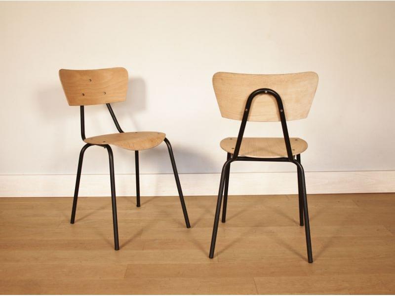 Chaise vintage style hitier maison simone for S asseoir sans chaise