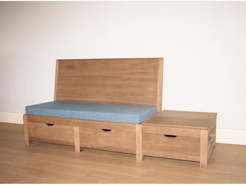 banquette banc vintage rangement. Black Bedroom Furniture Sets. Home Design Ideas