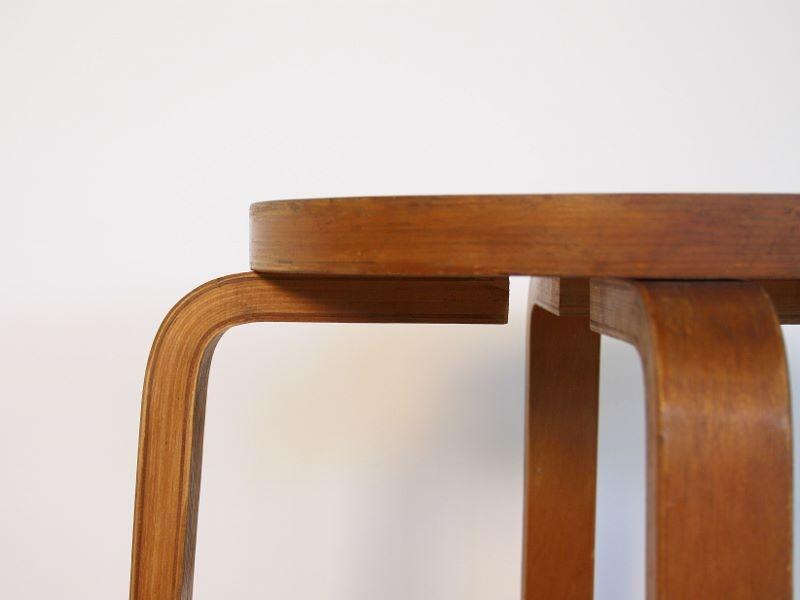 Tabouret E60 Alvar Aalto Vintage Design Scandinave