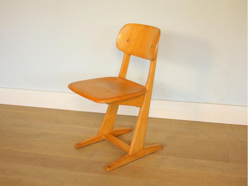 Chaise ecole casala vintage maison simone for S asseoir sans chaise