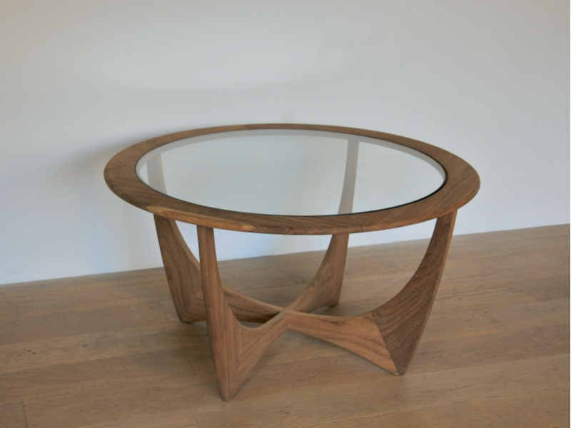 Table basse ronde teck scandinave wilkins g plan maison simone - Table basse ronde scandinave ...