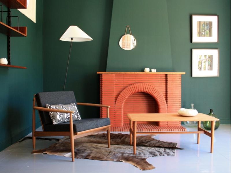 table basse scandinave vintage rectangle maison simone nantes. Black Bedroom Furniture Sets. Home Design Ideas