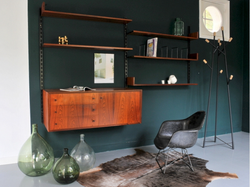 systeme rangement mural vintage danois maison simone. Black Bedroom Furniture Sets. Home Design Ideas