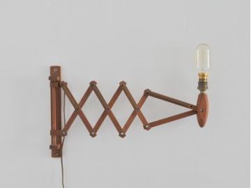 lampe applique potence extensible bois vintage maison simone nantes paris la baule