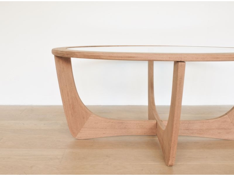 table basse ovale vintage teck scandinave maison simone. Black Bedroom Furniture Sets. Home Design Ideas