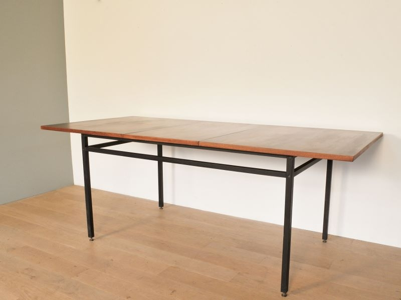 table rallonge vintage gascoin alveole moderniste maison. Black Bedroom Furniture Sets. Home Design Ideas
