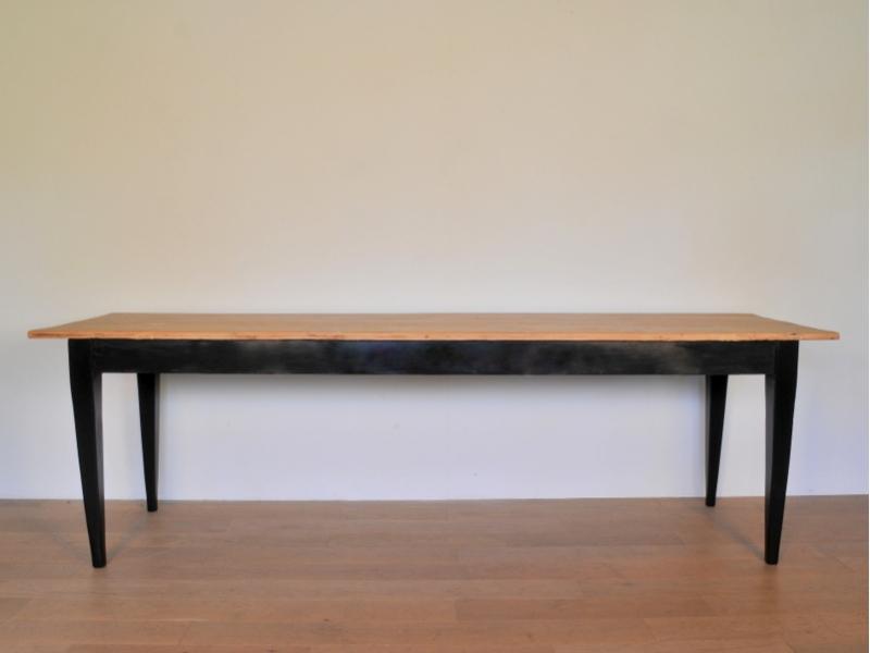 Grande table bistrot ferme refectoire vintage maison simone - Table de bistrot occasion ...