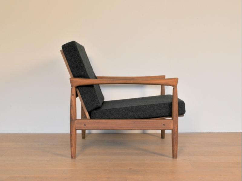 Fauteuil vintage design scandinave danois maison simone nantes