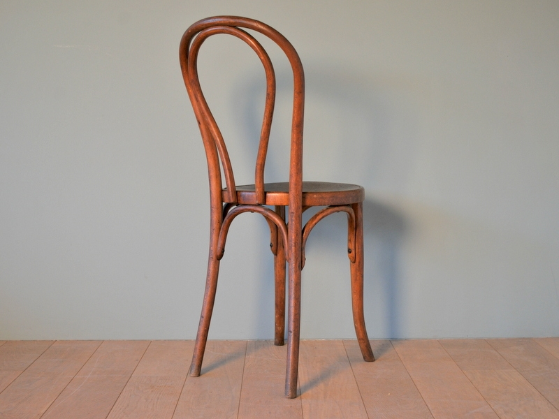 Chaise thonet antique no 1 folding chair with footstool for Chaise thonet