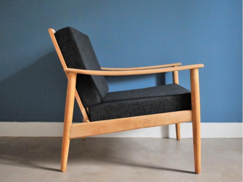 fauteuil scandinave vintage hetre maison simone nantes. Black Bedroom Furniture Sets. Home Design Ideas
