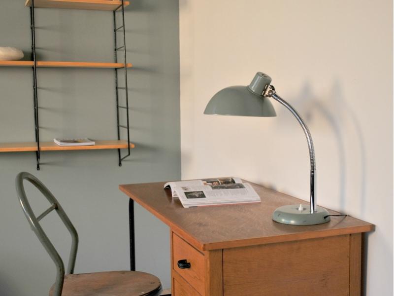 lampe poser bureau vintage vert amande 50 60 maison simone nantes. Black Bedroom Furniture Sets. Home Design Ideas