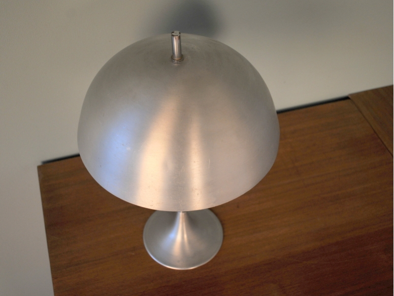Lampe Champignon Vintage Aluminium 50 60 Maison Simone Nantes