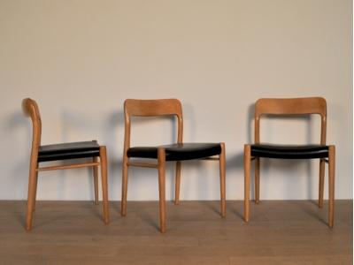 chaise moller 75 vintage anne 50 cuir maison simone nantes - Chaise Annee 50