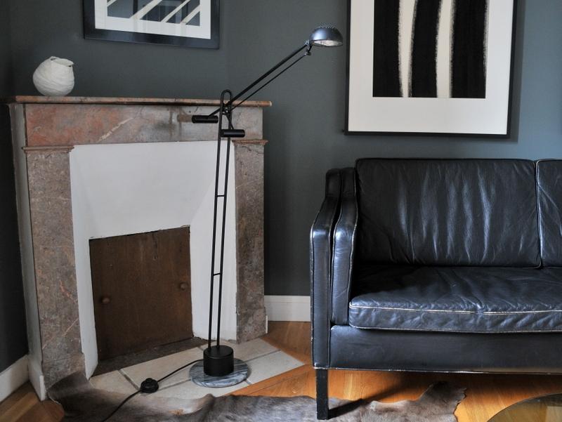 Design Maison Italien Simone Table Vintage Noir Poser Lampe Blanc tshdCrQx