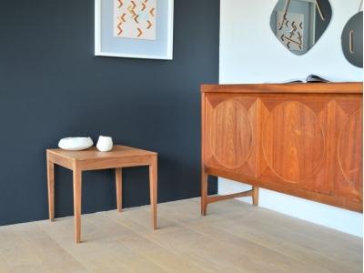 Table basse vintage coffee Vanson teck scandinave année 50 60 maison simone nantes
