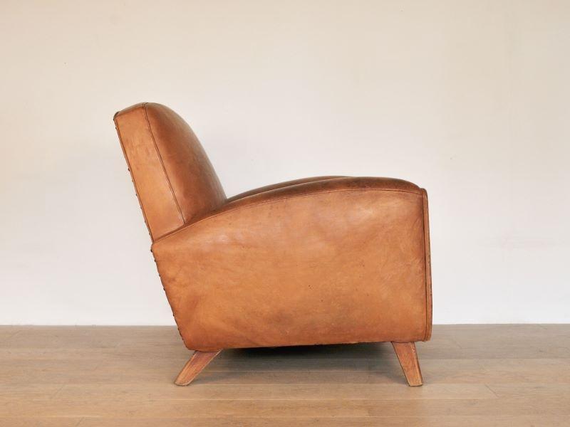 fauteuil club cuir cognac vintage maison simone nantes. Black Bedroom Furniture Sets. Home Design Ideas