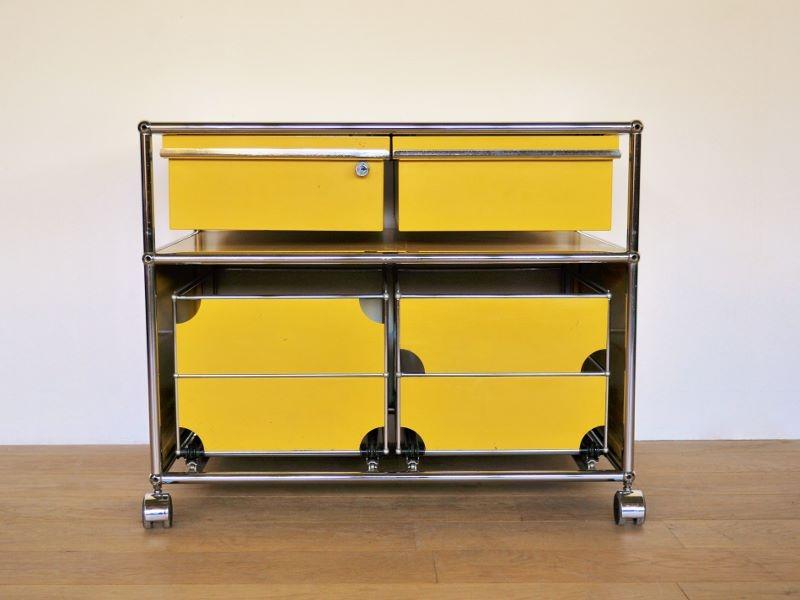 Usm vintage desserte design haller fritz maison simone jaune