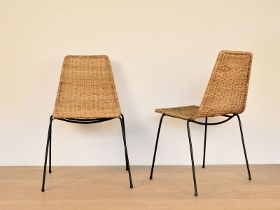 chaise vintage osier broc nantes - Chaise En Osier