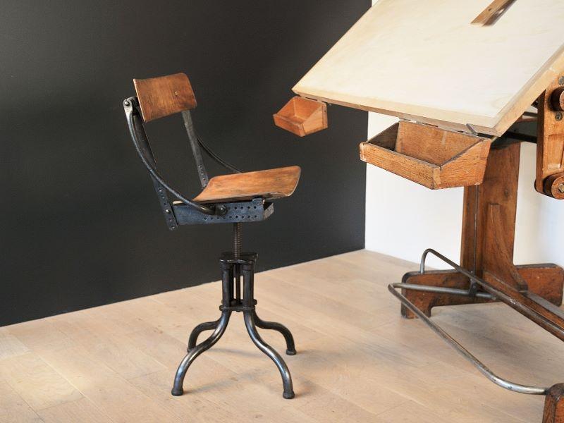 chaise atelier biennaise vintage industrielle maison simone nantes. Black Bedroom Furniture Sets. Home Design Ideas