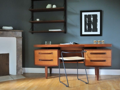 deco bureau vintage scandinave. Black Bedroom Furniture Sets. Home Design Ideas