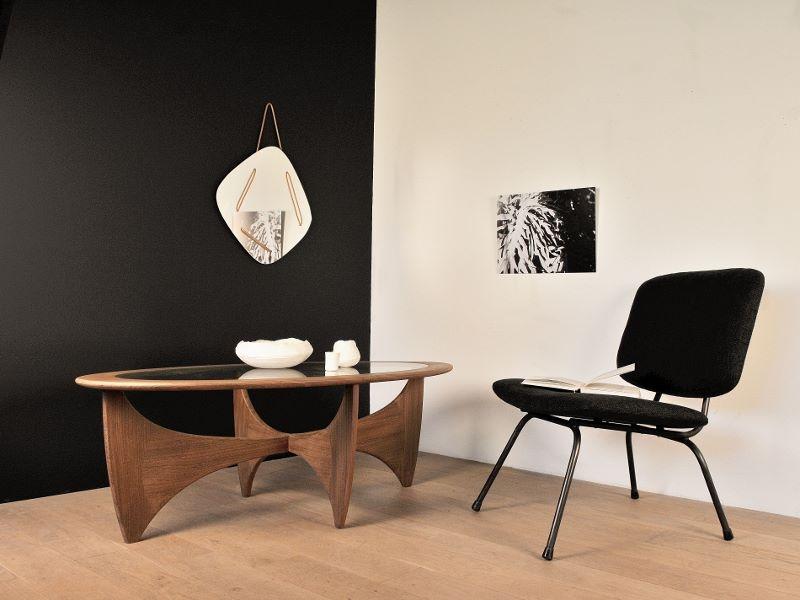 table basse ovale astro teck scandinave wilkins g plan. Black Bedroom Furniture Sets. Home Design Ideas