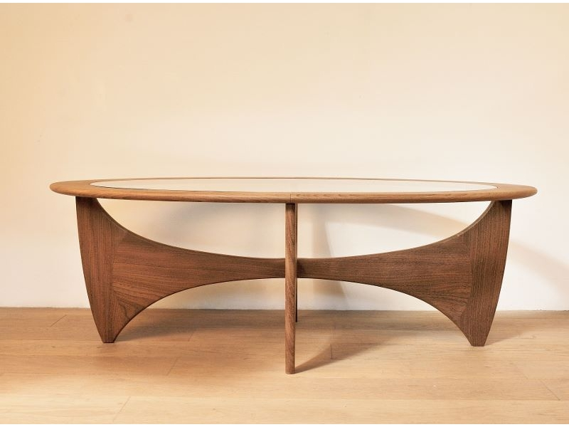 Table basse ovale astro teck scandinave wilkins g plan maison simone - Table basse ovale scandinave ...