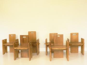 lot de six fauteuils dans le gout de Jeanneret et Perriand