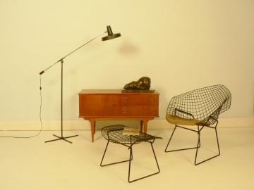 fauteuil bertoia diamond et son ottoman