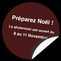 Notre showroom à Nantes est ouvert du 8 au 11 nov. 2014