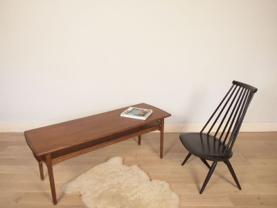 table basse scandinave teck