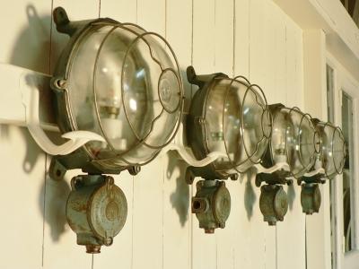 lampe hublot d'usine