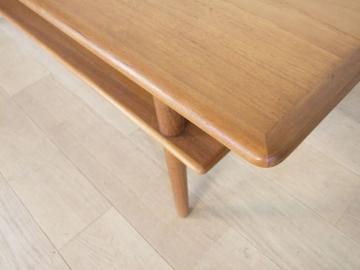 table basse teck scandinave