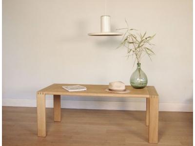 table basse scandinave chêne clair