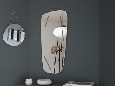miroir verre cuir maison simone