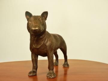 bronze bull terrier